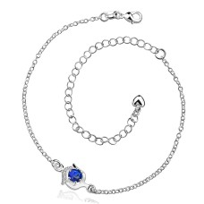 New Design Handmade Silver-Plated Anklet (Plant Shape Pattern)