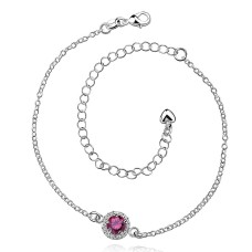 New Design Handmade Silver-Plated Anklet (Round Shape Pattern)