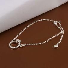 New Design Handmade Silver-Plated Anklet (Diamond/Ring Shape)