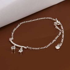 New Design Handmade Silver-Plated Anklet (Round/Star Shape)