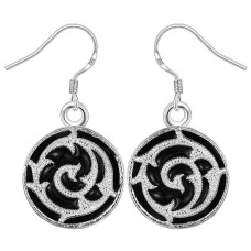Black & Silver-Coloured Fashion Earrings