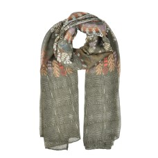 Winter Women Casual Printing Light Scarf - Green