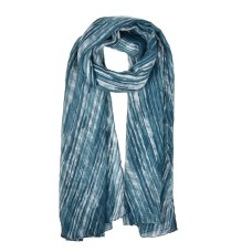 Fashion Women Laser Line Pattern Winter Scarf - Green