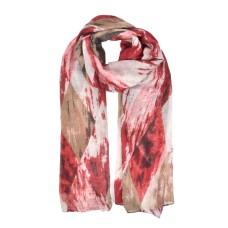 Fashion Women Diamond-Shaped Pattern Light Scarf - Red