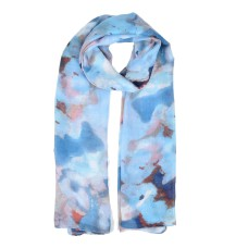 Butterfly Pattern Light Scarf for Women - Blue