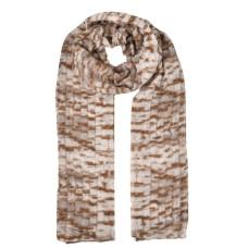 Snakeskin Pattern Fashion Winter women Scarf - Coffee