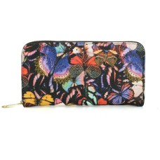 Colourful Butterfly Pattern Women Zipper Wallet