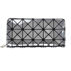 Triangular Pattern Solid Wallet - Silver