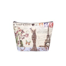 Paris Lady Print Make-up Bag