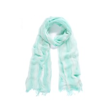 Blue/Cream stripe modal long scarf