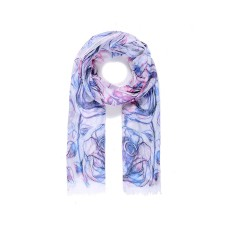 Large rose print scarf
