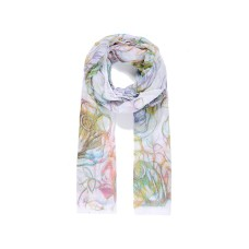 Large multi coloured rose print scarf