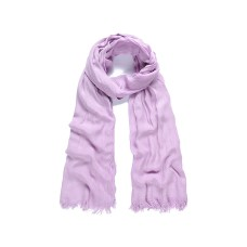 Lilac modal plain long scarf