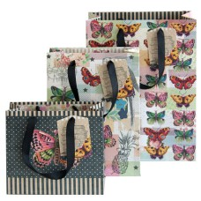 ARTEBENE Triple Assorted Gift Bags - Butterfly Pattern