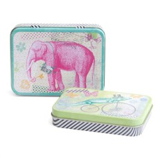 ARTEBENE Set of 2 Metal Boxes - Elephant Pattern