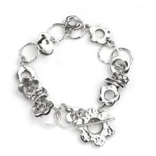 AVIV SILVER - Unusual Handmade Charm Bracelet