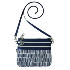 Earth Squared Navy Bamboo Pouch Bag