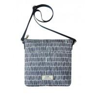 Earth Squared Navy Bamboo Messenger Bag