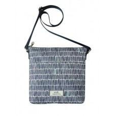 Earth Squared Navy Bamboo Messenger Bag
