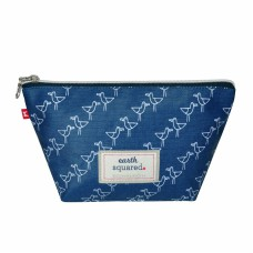 Earth Squared Blue Seagull Make-Up Bag