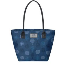 Earth Squared Teal Tree Tote Bag