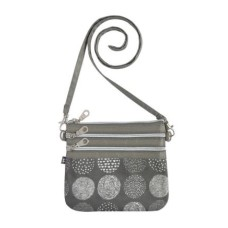 Earth Squared Grey Circle Pouch Bag