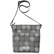 Earth Squared Grey Circle Messenger Bag