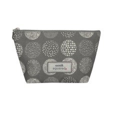 Earth Squared Grey Circle Make-Up Bag