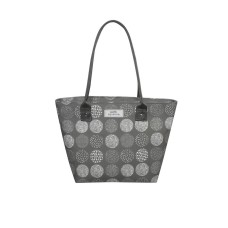 Earth Squared Grey Circle Tote Bag