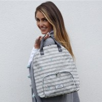 Earth Squared Grey Oval Backpack