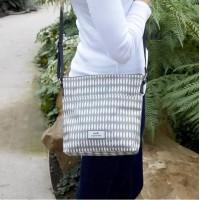 Earth Squared Grey Oval Messenger Bag