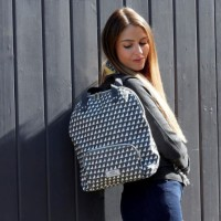 Earth Squared Grey Triangle Backpack