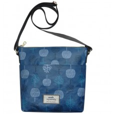 Earth Squared Teal Tree Messenger Bag