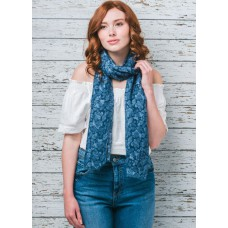 Louise Blue Soft Scarf