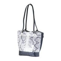 Chelsea - Grey Snakeskin Italian Handbag