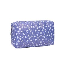 Small Blue Butterfly Print Cosmetic Bag