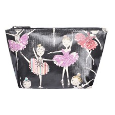 Black Ballerina Print Make-up Bag