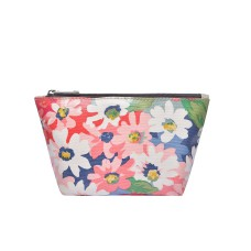 Pink-Green Floral Make-up Bag