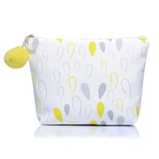 Medium Waterdrop Print Canvas Make-Up Bag