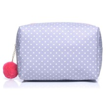 Large Grey Polka Dot Make-Up Bag