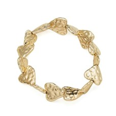 Gold Textured Heart Bracelet