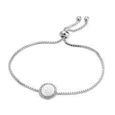 Silver Lariat Bracelet