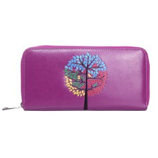 Embossed Purple Tree Purse