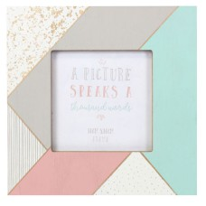 Wooden Pastel Coloured 4 x 4 Photo Frame