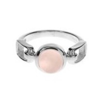 Round Stone Ring with Open Style Shoulders