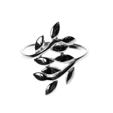 Open Style Leaf Design Ring