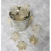 Lisa Angel 10 Battery Powered LED Silver Snowflake String Lights