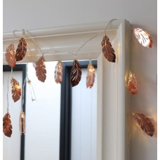Lisa Angel Copper Feather LED String Lights