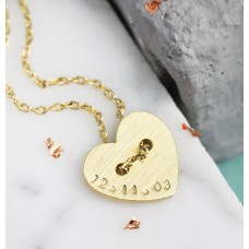Lisa Angel Gold Button Heart Necklace