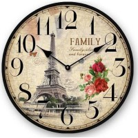 Large Eiffel Tower Wall Clock